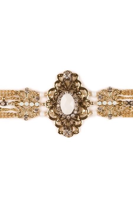 Wabersich Accessoires Damen Trachten Collier - MARGARETE - gold, Gold