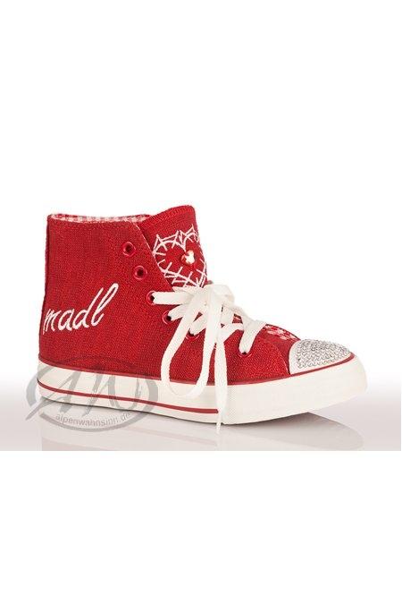 kr ger dirndl trachtensneaker trachten damen sneaker madl rosa rot. Black Bedroom Furniture Sets. Home Design Ideas