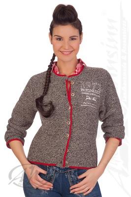 orbis textil strickjacke damen trachten strickjacke rosi natur braun. Black Bedroom Furniture Sets. Home Design Ideas